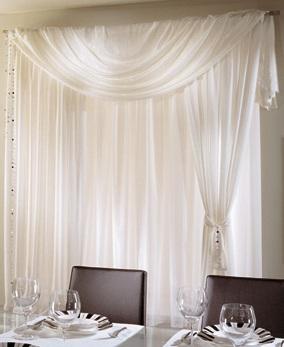 Tenda per alberghi etamine bianco panna sonnino ingrosso - Tende bianche camera da letto ...
